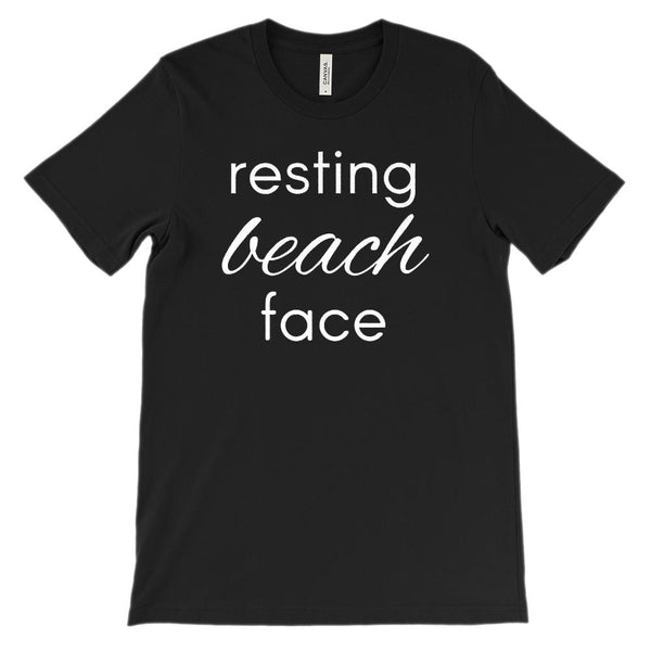 (Unisex BC 3001 Soft Tee) Resting Beach Face Graphic T-Shirt Tee BOXELS