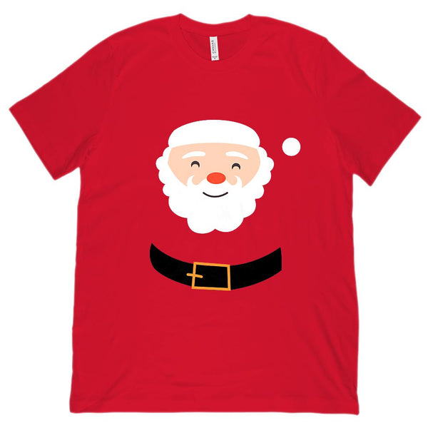 (Unisex BC 3001 Soft Tee) Santa Clause Red Suit Holiday Christmas Tee Graphic T-Shirt Tee BOXELS
