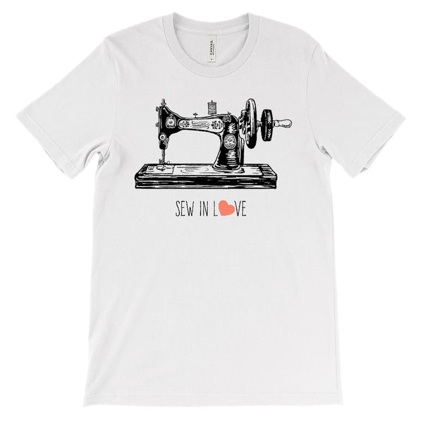(Unisex BC 3001 Soft Tee) Sew in Love Graphic T-Shirt Tee BOXELS