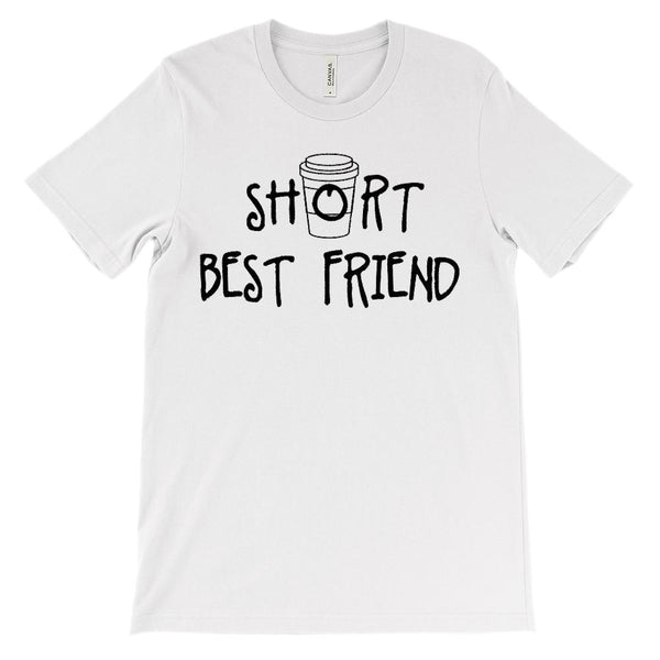 (Unisex BC 3001 Soft Tee) Short Best Friend - Matching - Coffee (Black) Graphic T-Shirt Tee BOXELS