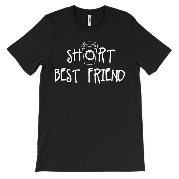 (Unisex BC 3001 Soft Tee) Short Best Friend - Matching - Coffee (White) Graphic T-Shirt Tee BOXELS