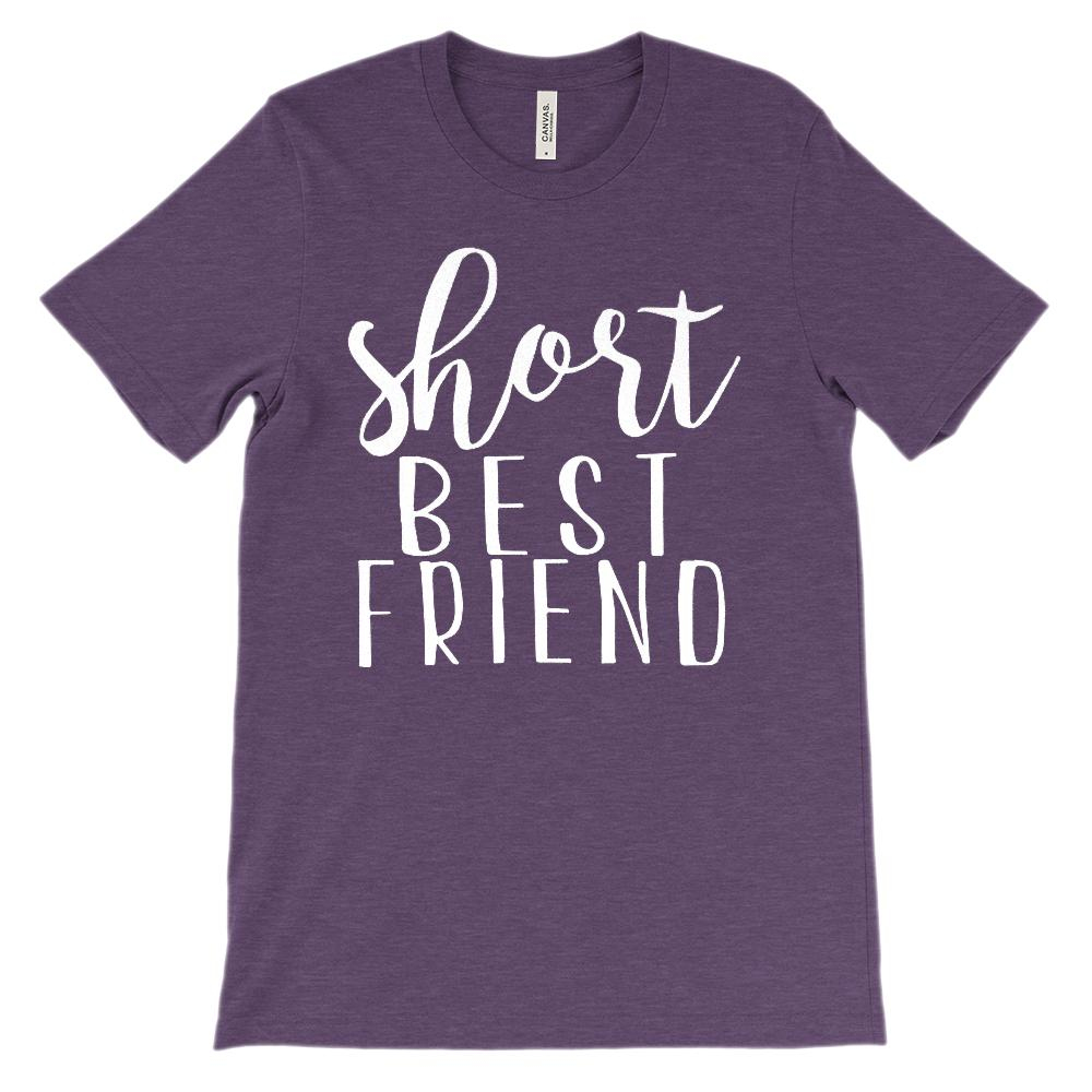 (Unisex BC 3001 Soft Tee) Short Best Friend - Matching (white) Graphic T-Shirt Tee BOXELS