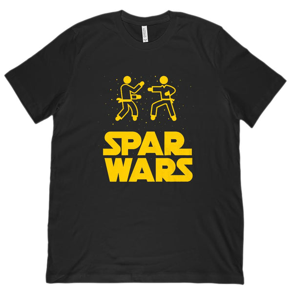 (Unisex BC 3001 Soft Tee) Spar Wars Fighting Parody Karate Martial Arts Space Graphic T-Shirt Tee BOXELS