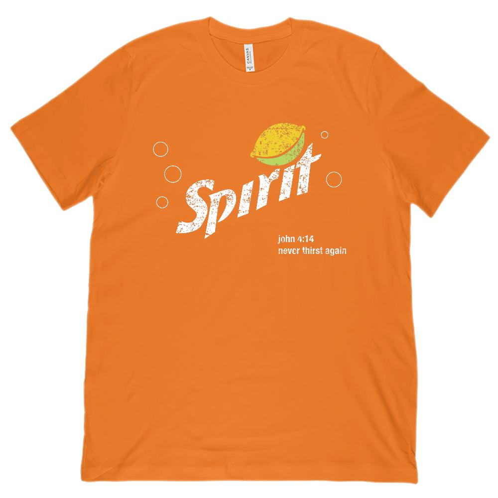 (Unisex BC 3001 Soft Tee) Spirit Refreshing Never Thirst Again Lemon Lime Graphic T-Shirt Tee BOXELS