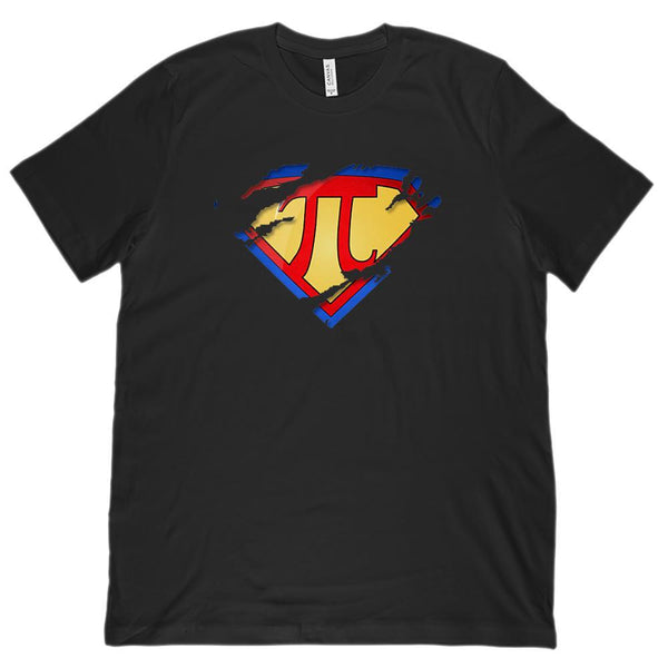 (Unisex BC 3001 Soft Tee) Super Pi Ripped Hero Heroine Math Graphic T-Shirt Tee BOXELS