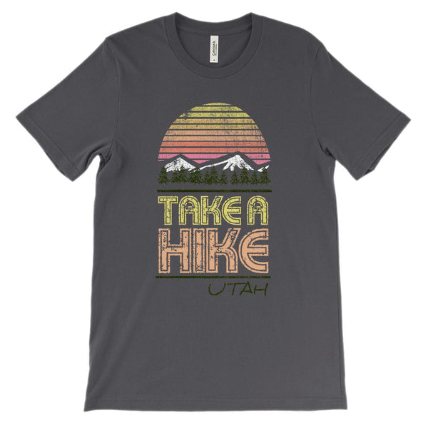 (Unisex BC 3001 Soft Tee) Take a Hike Utah Graphic T-Shirt Tee BOXELS