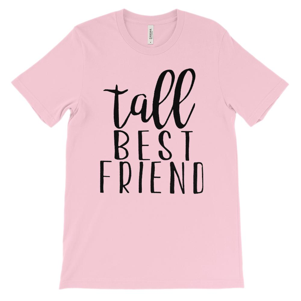 (Unisex BC 3001 Soft Tee) Tall Best Friend - Matching (Black) Graphic T-Shirt Tee BOXELS