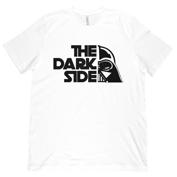 (Unisex BC 3001 Soft Tee) The Dark Side Funny Pun Of Wars in the Stars Graphic T-Shirt Tee BOXELS