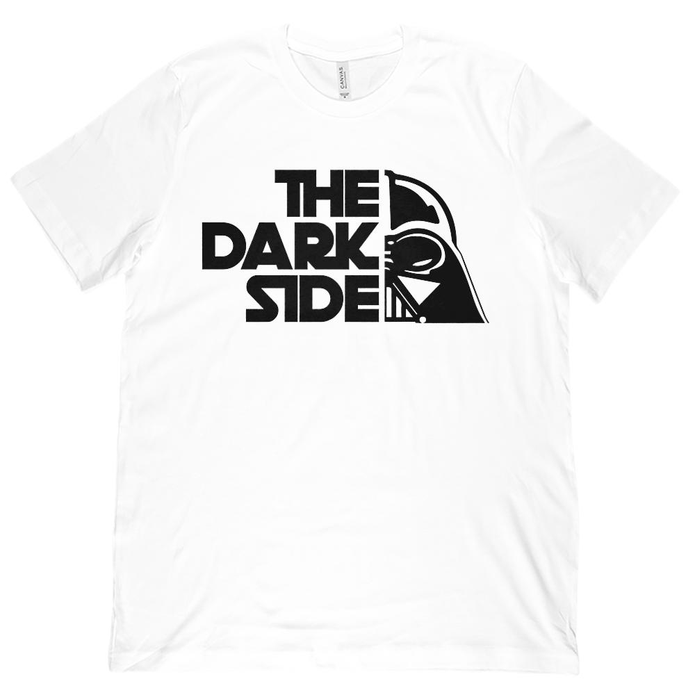 (Unisex BC 3001 Soft Tee) The Dark Side Mask Space Wars Star Parody