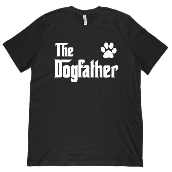 (Unisex BC 3001 Soft Tee) The Dogfather (Dog Father) Parody Tee Graphic T-Shirt Tee BOXELS