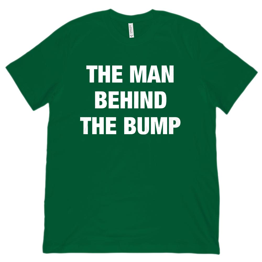 (Unisex BC 3001 Soft Tee) The Man Behind the Bump (maternity, pregnancy) white Graphic T-Shirt Tee BOXELS