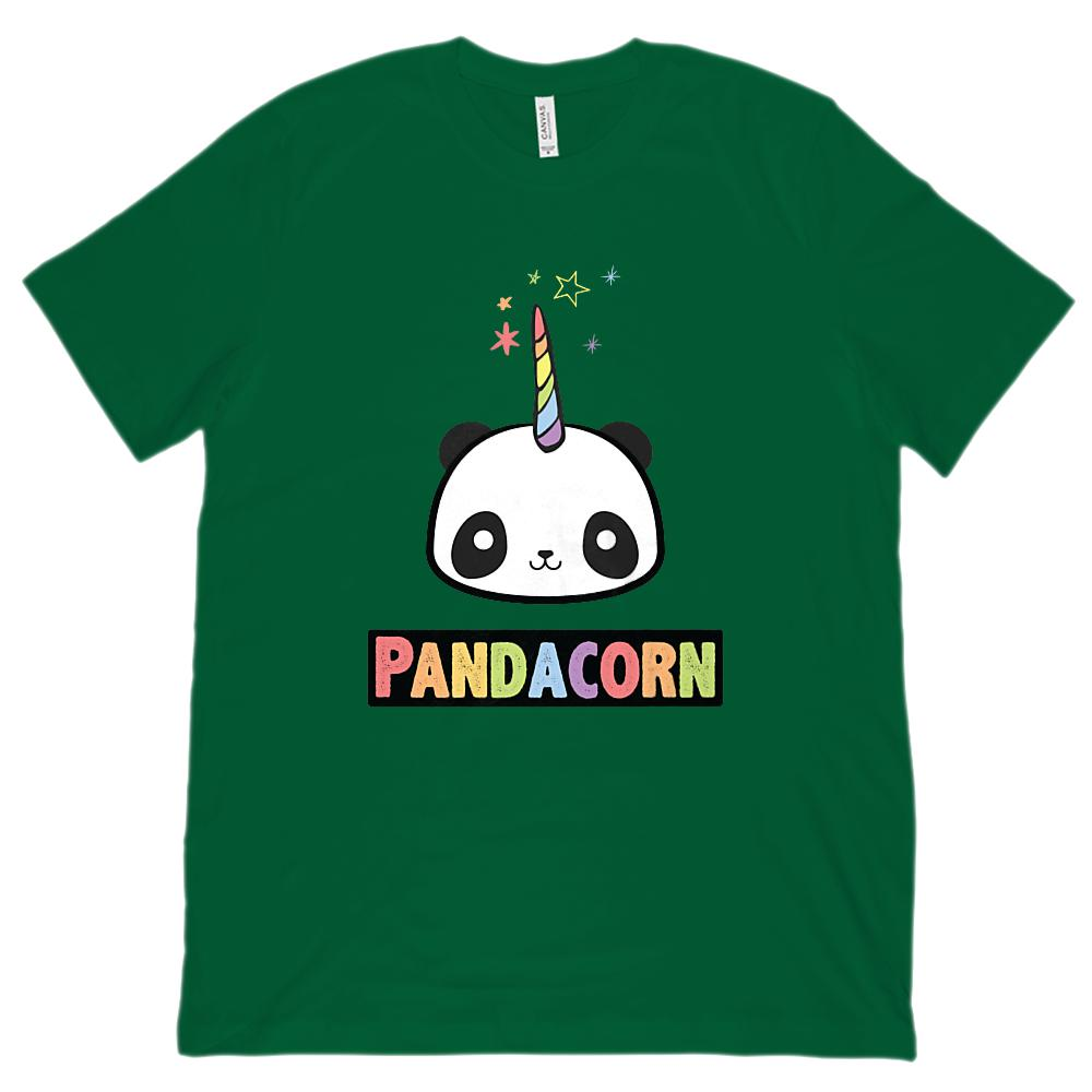 (Unisex BC 3001 Soft Tee) - The Original Pandacorn Magical Panda Unicorn Graphic T-Shirt Tee BOXELS