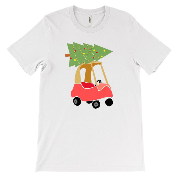 (Unisex BC 3001 Soft Tee) Toy Car Christmas Tree Carry Graphic T-Shirt Tee BOXELS