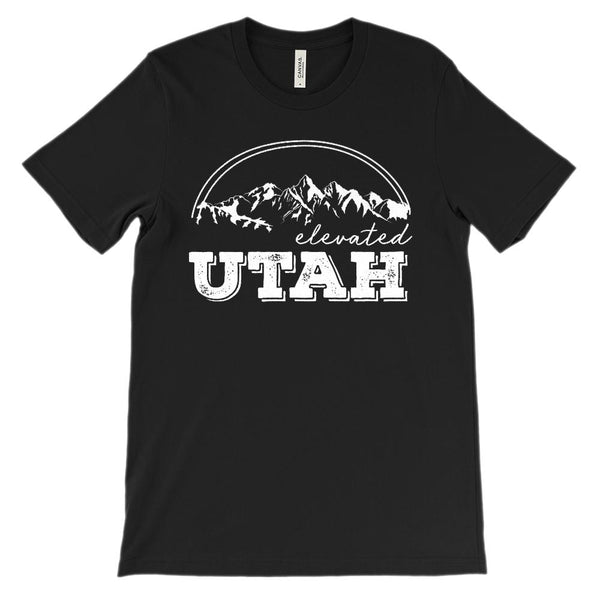 (Unisex BC 3001 Soft Tee) Utah Elevated Graphic T-Shirt Tee BOXELS