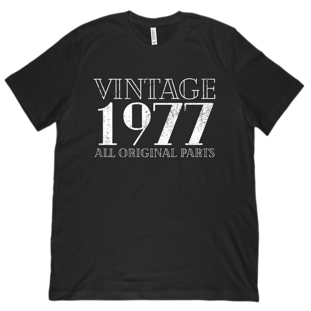 (Unisex BC 3001 Soft Tee) Vintage All Original Parts 1977 - Made in Year