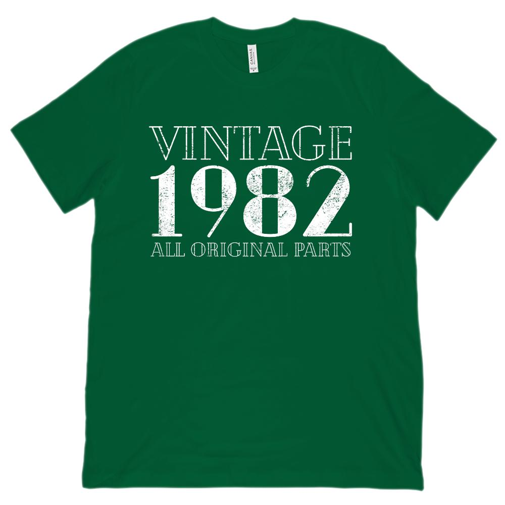 (Unisex BC 3001 Soft Tee) Vintage All Original Parts 1982 - Made in Year Graphic T-Shirt Tee BOXELS