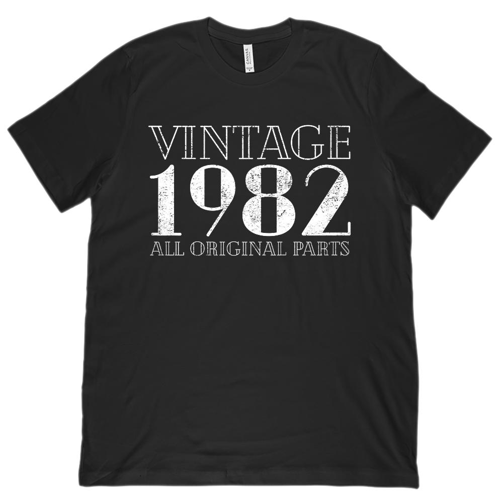 (Unisex BC 3001 Soft Tee) Vintage All Original Parts 1982 - Made in Year