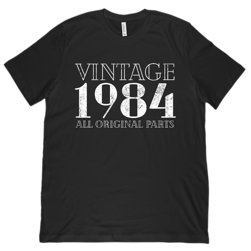 (Unisex BC 3001 Soft Tee) Vintage All Original Parts 1984 - Made in Year