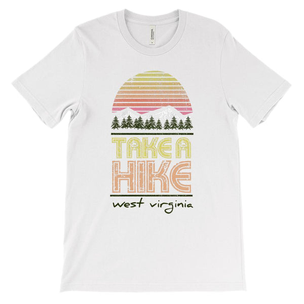 (Unisex BC 3001 Soft Tee) West Virginia Take a Hike Graphic T-Shirt Tee BOXELS