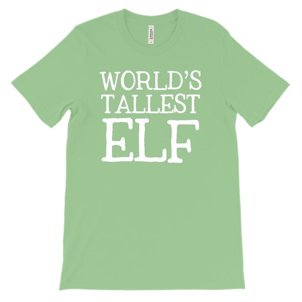 (Unisex BC 3001 Soft Tee) World's Tallest Elf Christmas Holidays (white) Graphic T-Shirt Tee BOXELS