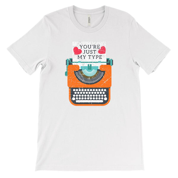 (Unisex BC 3001 Soft Tee) You're Just My Type Valentine Love Graphic T-Shirt Tee BOXELS