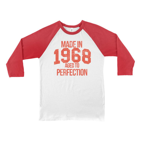 (Unisex BC Raglan 3200) Aged To Perfection 1968 Graphic T-Shirt Tee BOXELS
