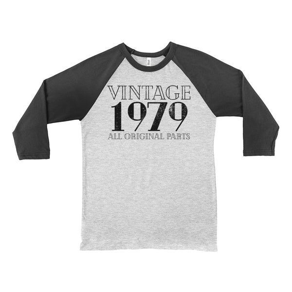 (Unisex BC Raglan 3200) Vintage 1979 Original Parts Graphic T-Shirt Tee BOXELS