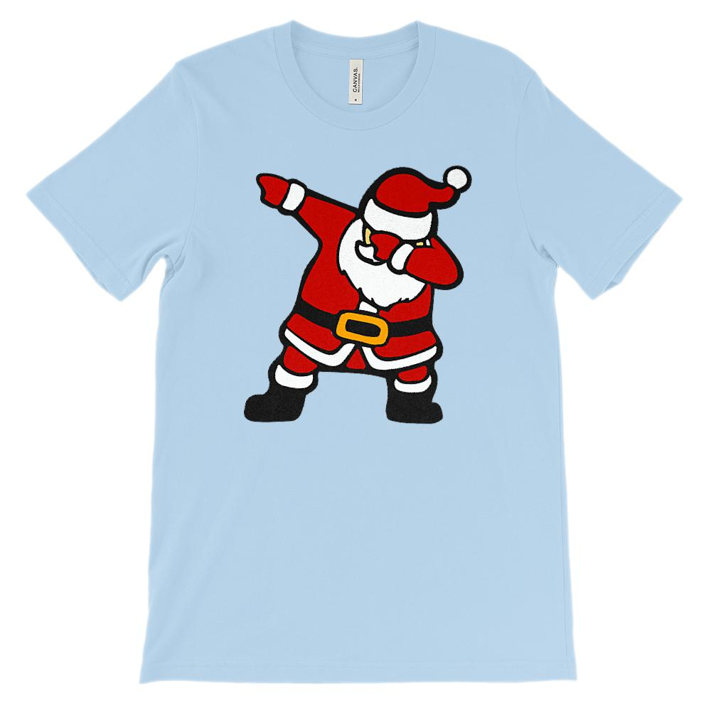 (Unisex Soft BC 3001 - Light Tees) Dabbing Santa Trending Graphic T-Shirt Tee BOXELS