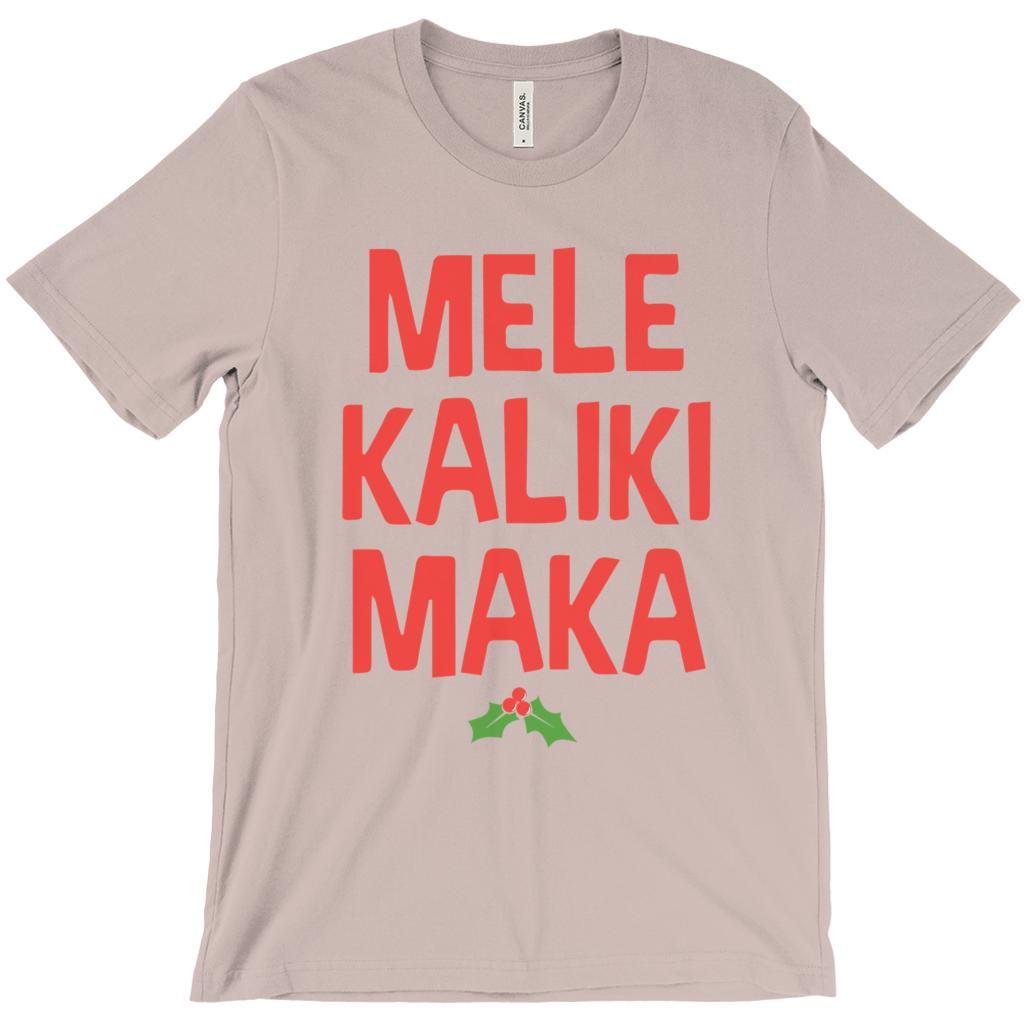 (Unisex Soft BC 3001 - Other Colors) Mele KalikiMaka Merry Christmas Hawaii Graphic T-Shirt Tee BOXELS