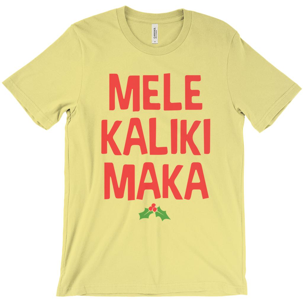 (Unisex Soft BC 3001 - Other Colors) Mele KalikiMaka Merry Christmas Hawaii