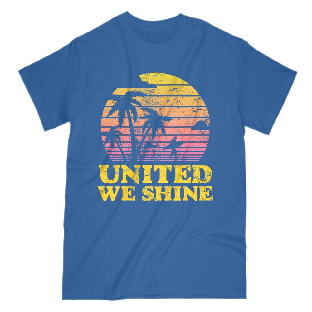 United We Shine Sunny Tropical Palms Patriotic Islander T-Shirt