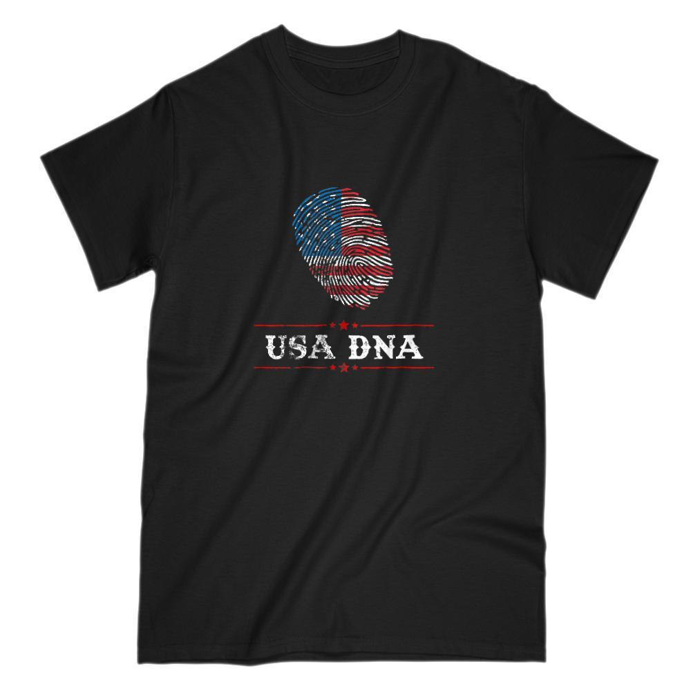 USA DNA Fingerprint Patriotic American Flag T-Shirt