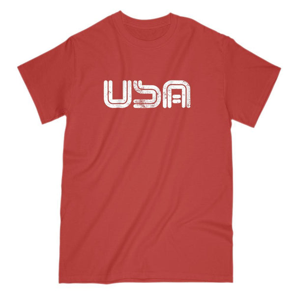 USA (white) Graphic Patriotic T-Shirt Graphic T-Shirt Tee BOXELS