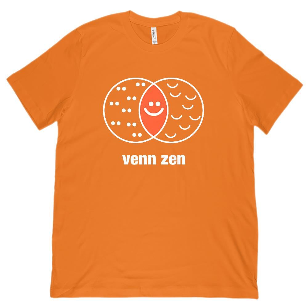 Venn Zen Diagrams Teacher Funny (Unisex BC 3001 Soft Tee) Graphic T-Shirt Tee BOXELS