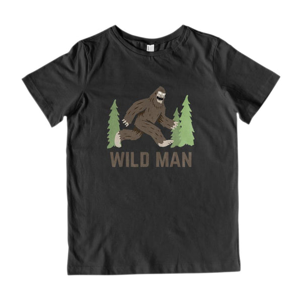 Wild Man Sasquatch Outdoors Funny (Kids) Graphic Tee Graphic T-Shirt Tee BOXELS