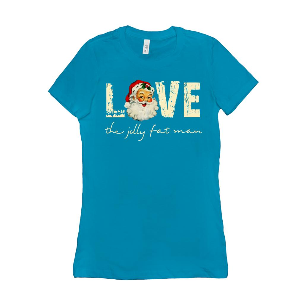 (Women's BC 600 4Soft Tee - other colors) Love the Jolly Fat Man Graphic T-Shirt Tee BOXELS