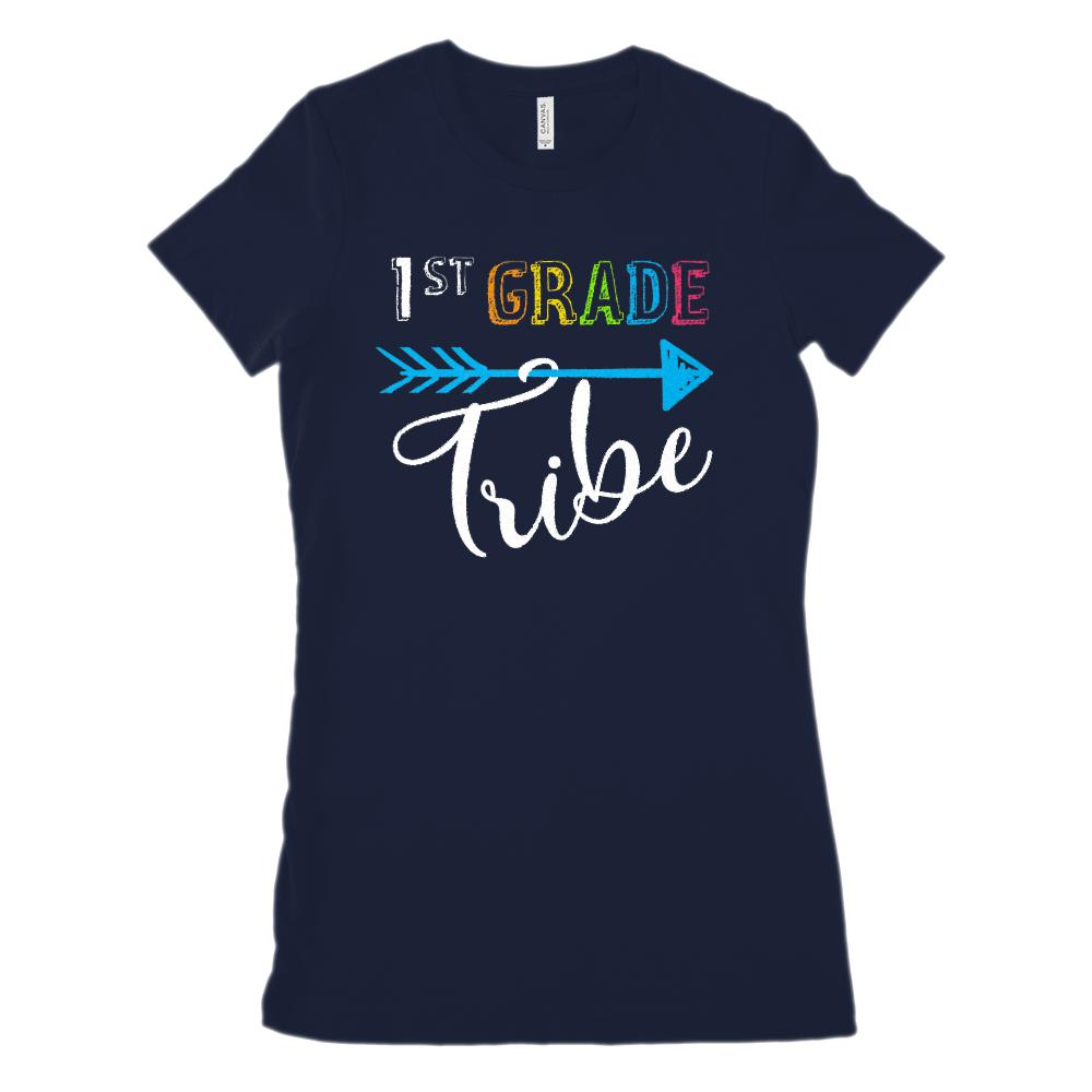 (Women's BC 6004 Soft Tee) 1st Grade Tribe Graphic Teacher Graphic T-Shirt Tee BOXELS