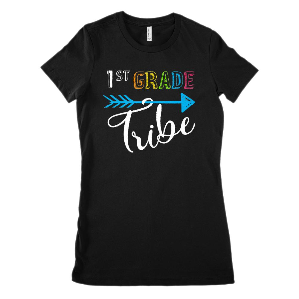 (Women's BC 6004 Soft Tee) 1st Grade Tribe Graphic Teacher