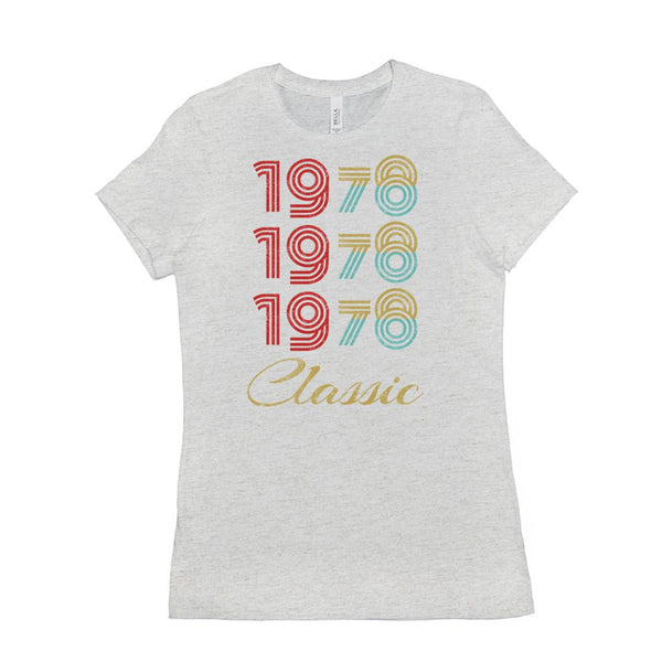 (Women's BC 6004 Soft Tee) 3 Year Classic 1978 - Made in the Year (Size Up 2x!!) Other Colors Graphic T-Shirt Tee BOXELS
