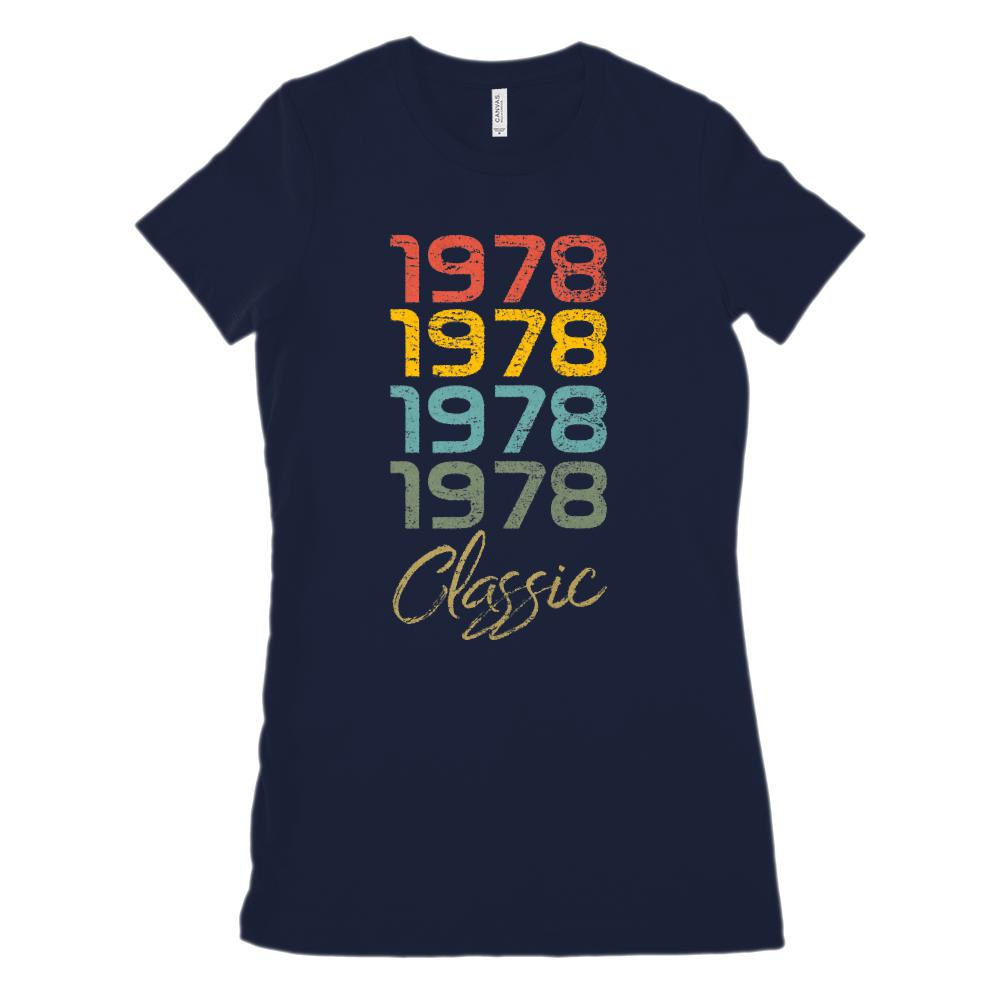 (Women's BC 6004 Soft Tee) 4 Year Classic 1978 - Made in the Year (Size Up 2x!) Graphic T-Shirt Tee BOXELS