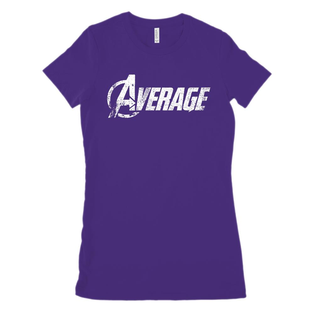 (Women's BC 6004 Soft Tee) Average Avenger Parody Graphic T-Shirt Tee BOXELS