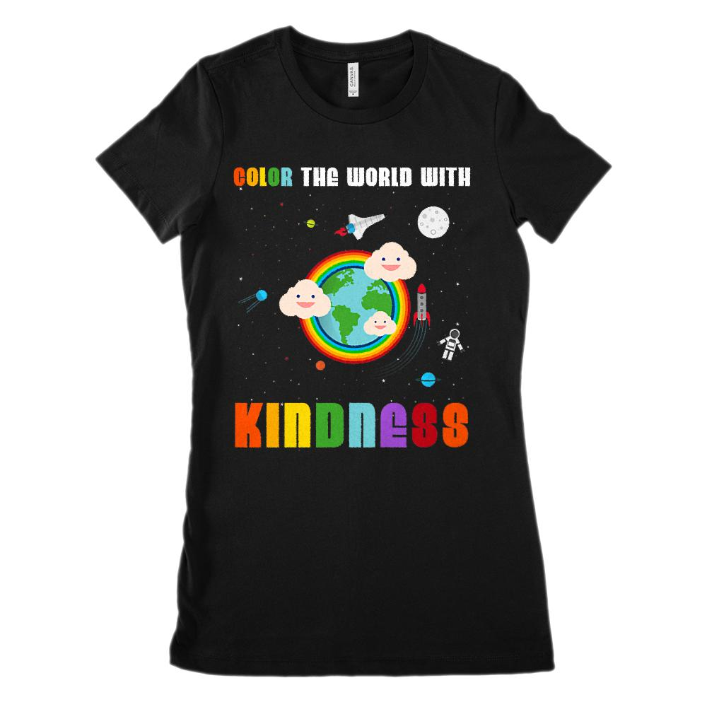 8bca401b (Women's BC 6004 Soft Tee) Color the World With Kindness Teacher Soft Tee  Graphic