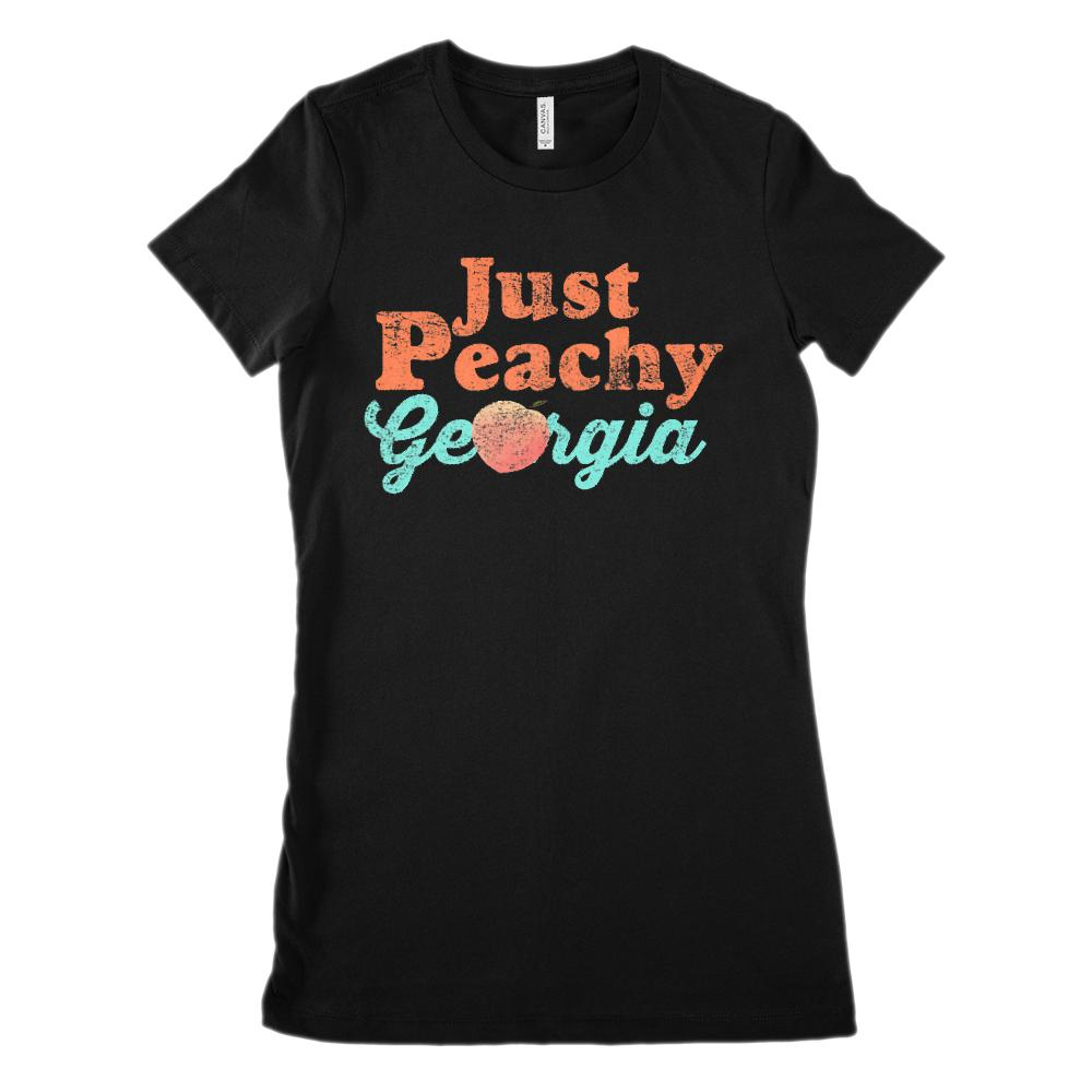 (Women's BC 6004 Soft Tee) Iconic State Scenery - Just Peachy Georgia