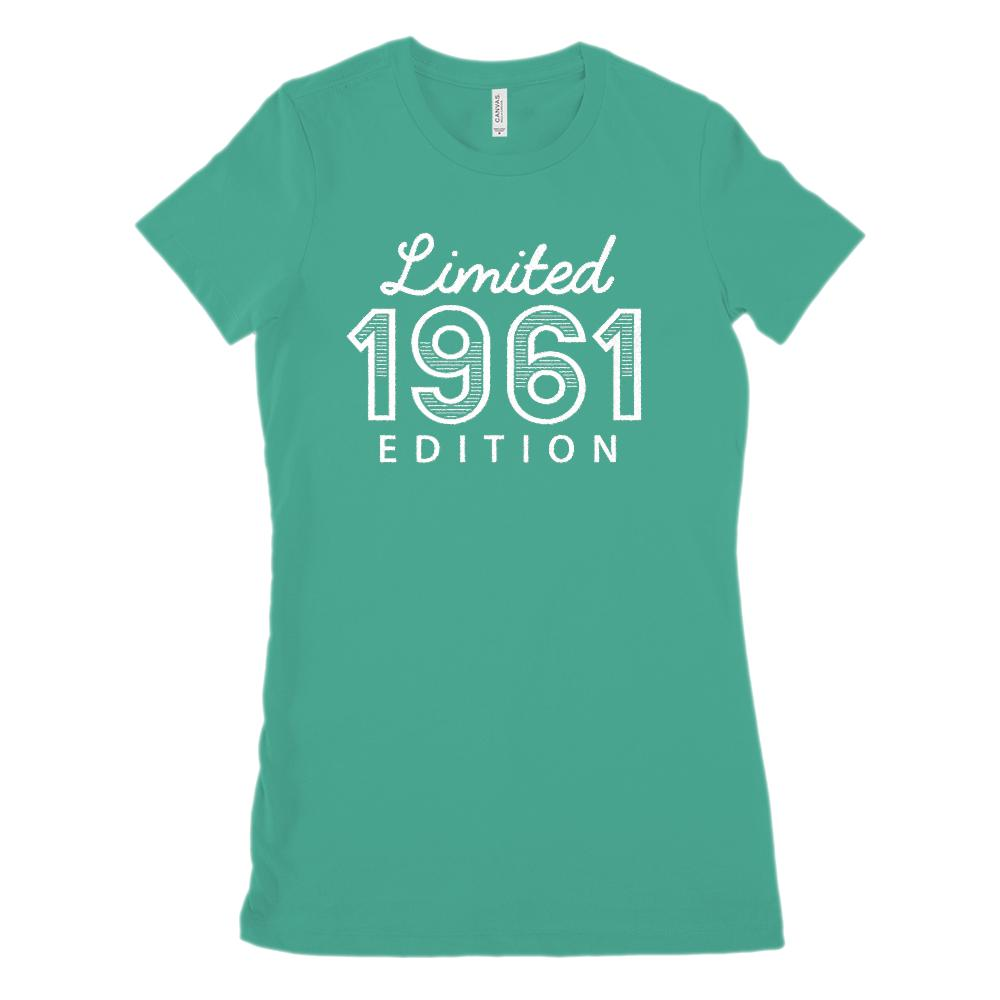 (Women's BC 6004 Soft Tee) Limited 1961 Striped Edition - Made in Year Graphic T-Shirt Tee BOXELS