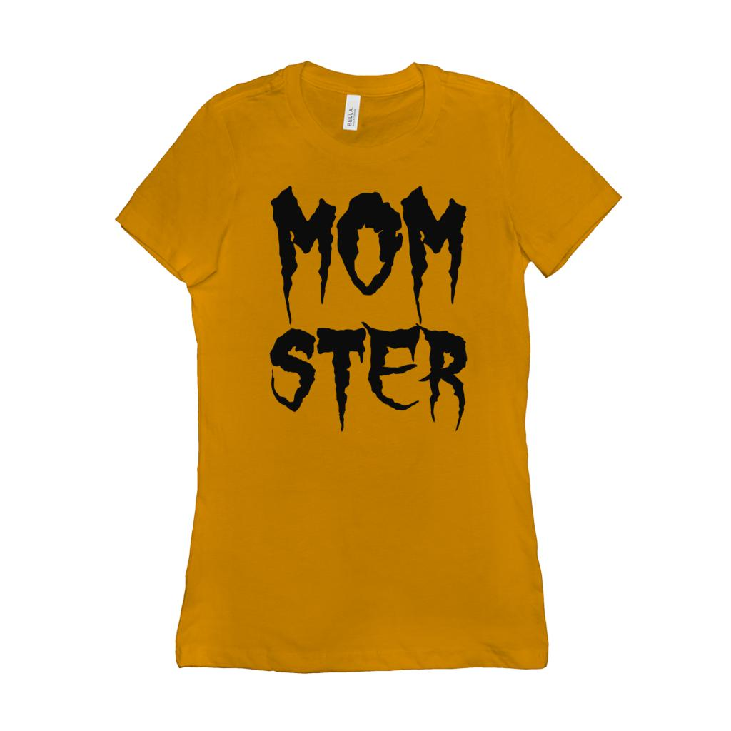 (Women's BC 6004 Soft Tee) Momster (Mom Monster) Cursed (Other Tee Colors) Graphic T-Shirt Tee BOXELS