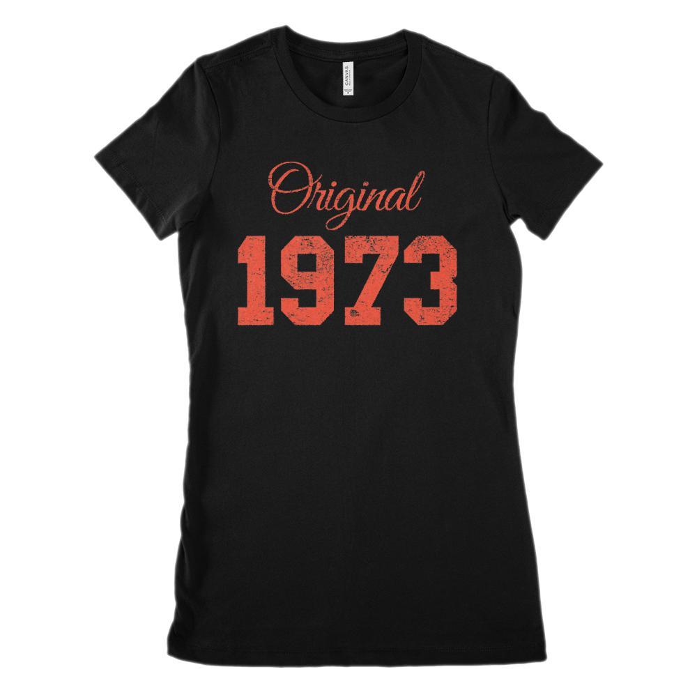 (Women's BC 6004 Soft Tee) Original 1973 Red - Made in the Year (Size up!)