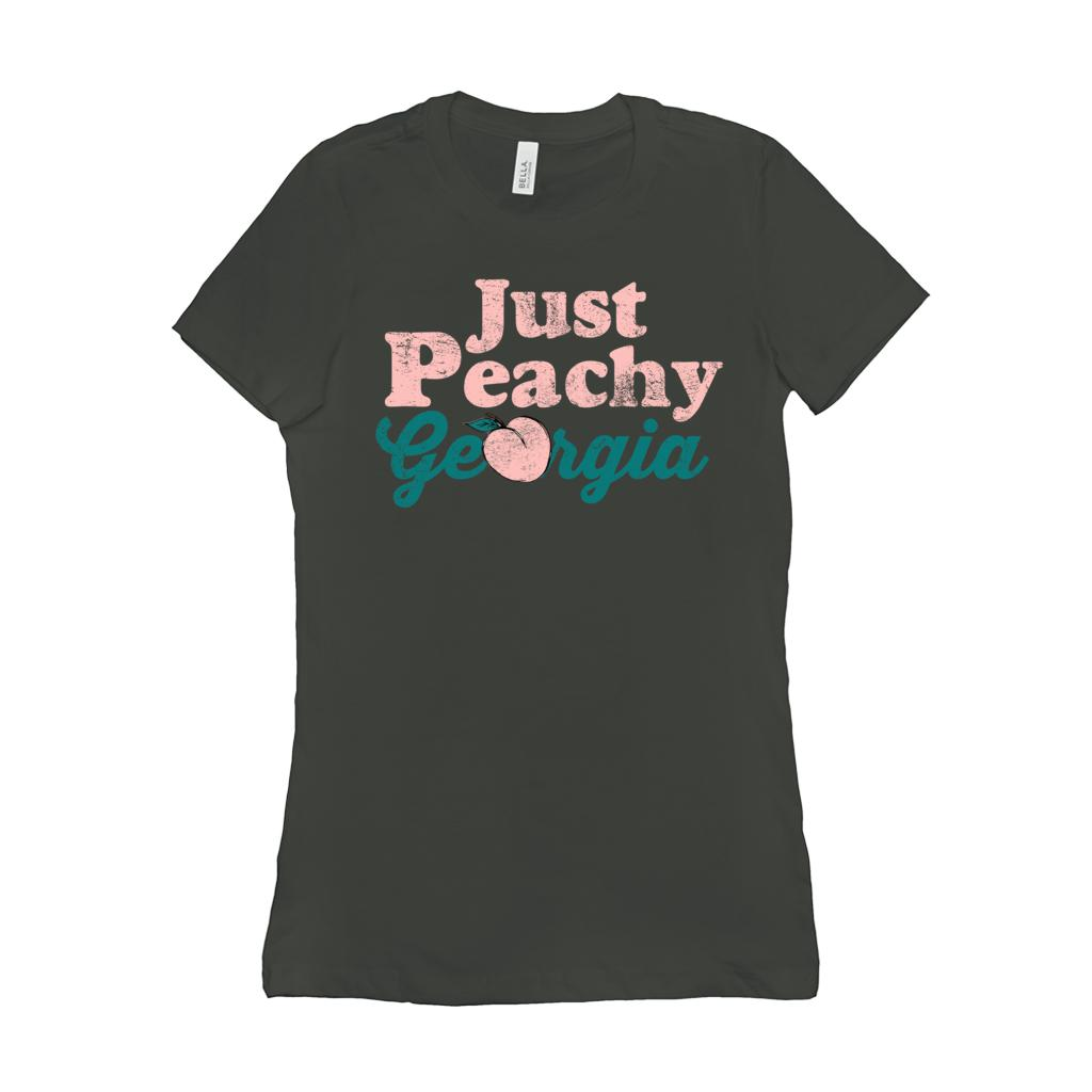 (Women's BC 6004 Soft Tee Others) Georgia Just Peachy Pink Graphic T-Shirt Tee BOXELS