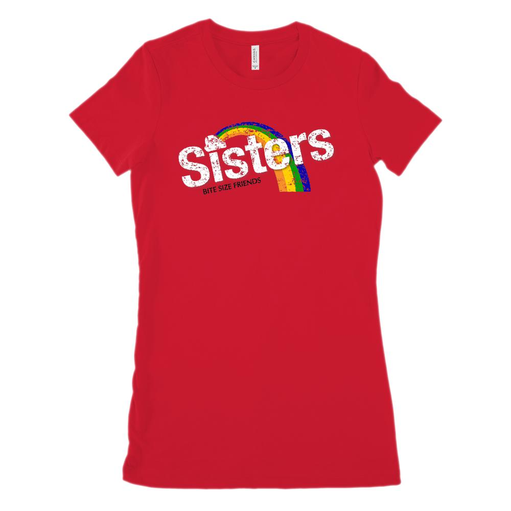 (Women's BC 6004 Soft Tee) Sisters Bite Size Friends  Candy Parody (Size Up 2x)