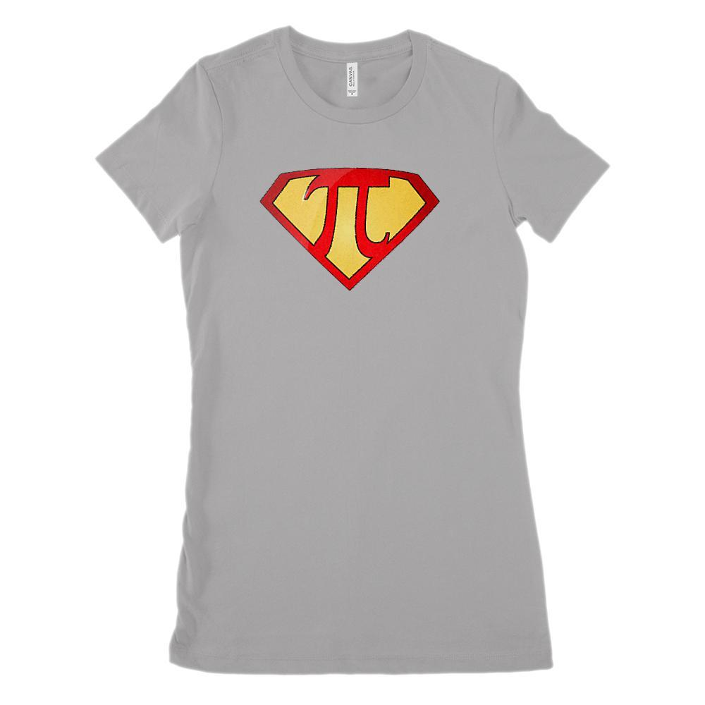 (Women's BC 6004 Soft Tee Size up 2X!) Super Pi Hero Heroine Math Graphic T-Shirt Tee BOXELS