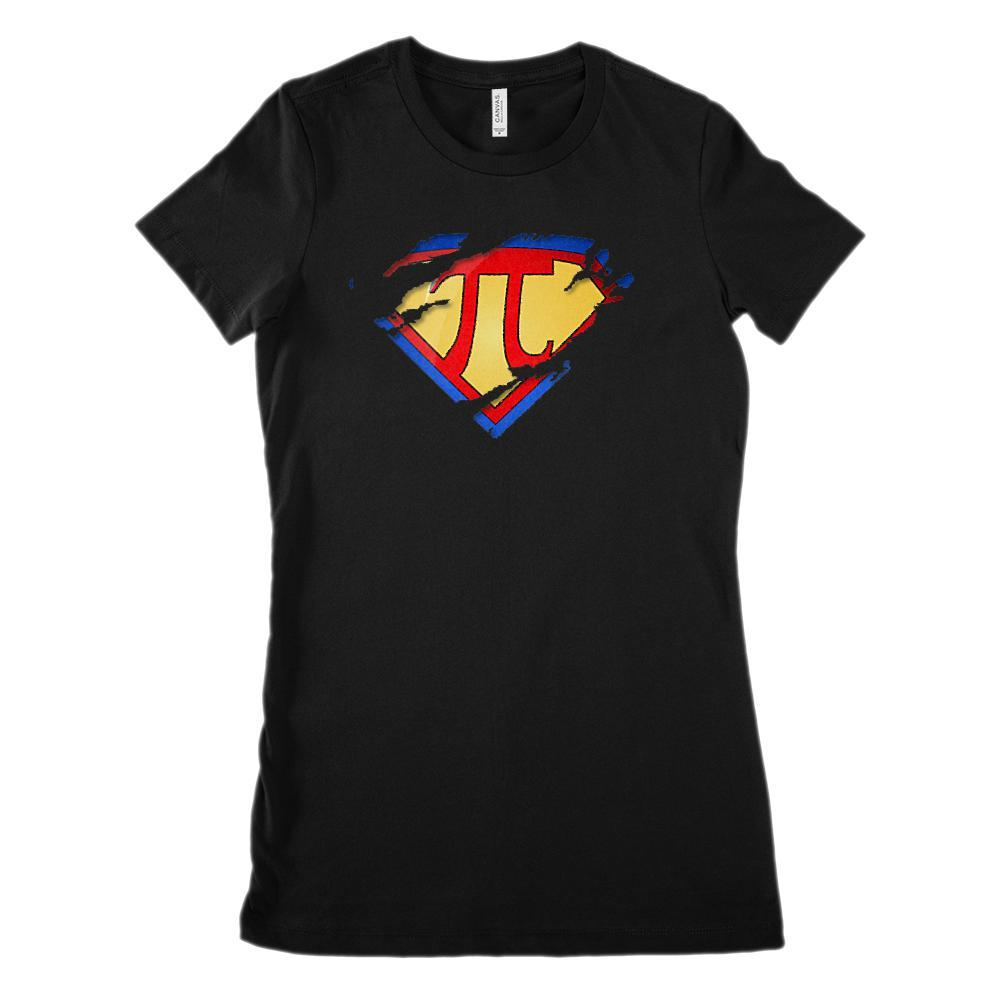 (Women's BC 6004 Soft Tee - Size up 2X!) Super Pi Ripped Hero Heroine Math